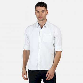 Men's Banning Coolweave Long Sleeved Shirt White Oxford