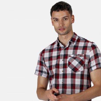 Men's Ramiro Short Sleeved Checked Shirt Navy Check