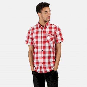 Men's Ramiro Short Sleeved Checked Shirt True Red