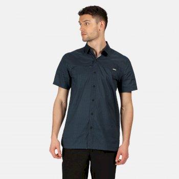 Men's Honshu V Short Sleeved Shirt Dark Denim