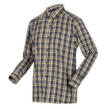 Men's Mindano III Long Sleeved Checked Shirt Ash