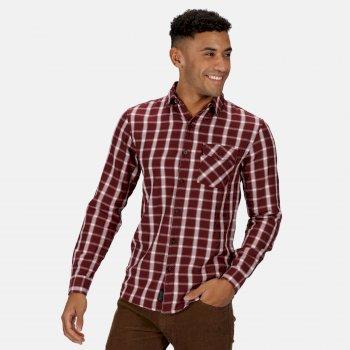 Men's Lonan Long Sleeved Checked Shirt Port Royale Plaid