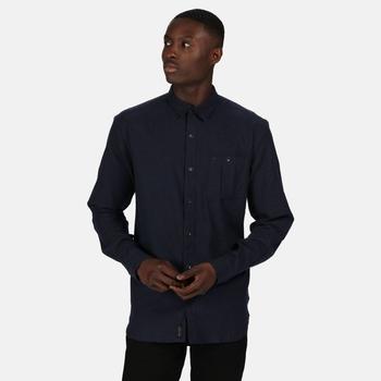 Męska koszula bawełniana Durwood ciemnozielona