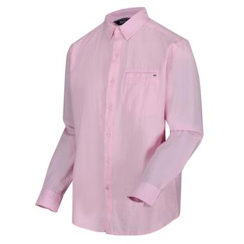 Men's Bard Coolweave Long Sleeved Shirt Pale Pink