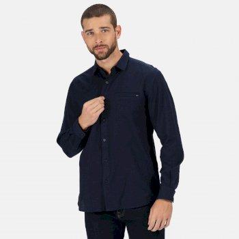 Men's Bard Coolweave Long Sleeved Shirt Navy