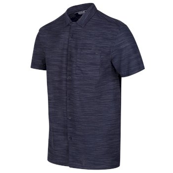 Męska koszula Mahlon ciemnogranatowa