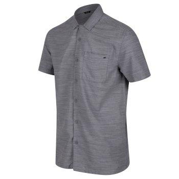Men's Mahlon Coolweave Short Sleeved Shirt Rock Grey Marl
