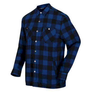 Men's Thamos Long Sleeved Checked Shirt Aviator Blue Buffalo Check