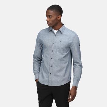 Men's Darien Long Sleeved Shirt Chambray Oxford