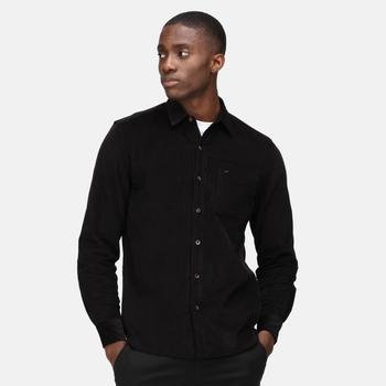 Men's Darien Long Sleeved Shirt Black Cord