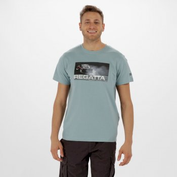 Cline II Graphic Print T-Shirt Stone Blue