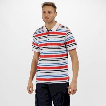 Pieran Coolweave Cotton Stripe T-Shirt White