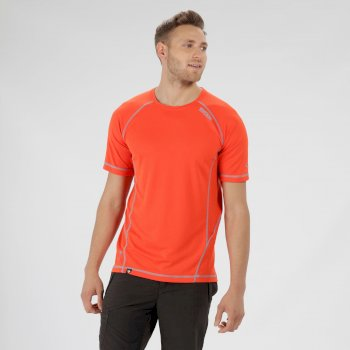 Virda II Lightweight T-Shirt Amber Glow Atoll Blue