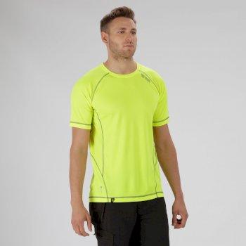 Virda Il Lightweight T-Shirt Fluro Yellow Seal Grey