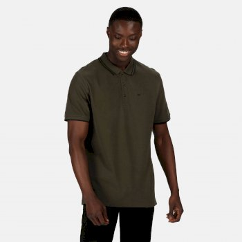 Męska koszulka polo Talcott II ciemne khaki