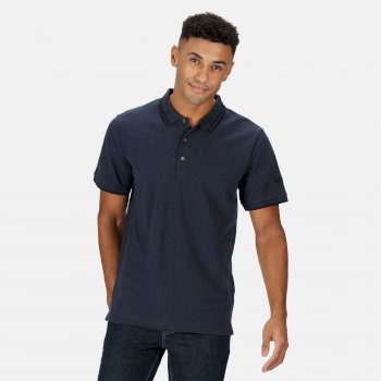 Men's Talcott II Pique Polo Shirt Navy Black