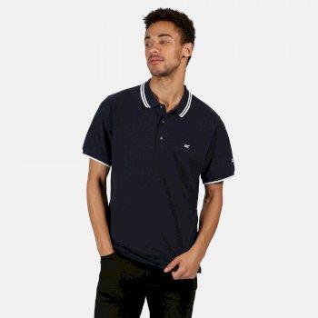Men's Talcott II Pique Polo Shirt Navy White