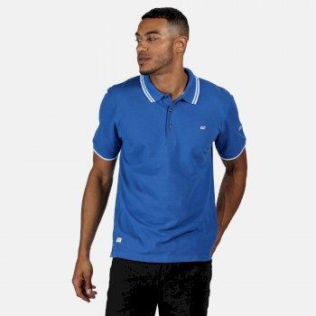 Men's Talcott II Pique Polo Shirt Nautical Blue White