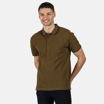 Men's Talcott II Pique Polo Shirt Camo Green Navy