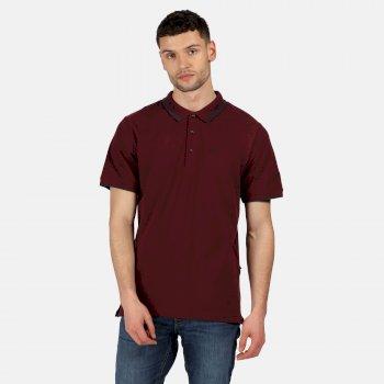 Męska koszulka polo Talcott II bordowa