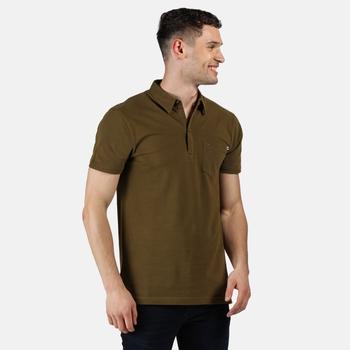 Men's Barley Coolweave Polo Shirt Camo Green
