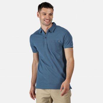 Męska koszulka polo Barley niebieska