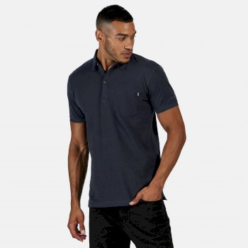 Men's Barley Coolweave Polo Shirt Navy