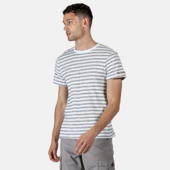 Men's Tariq Striped T-Shirt White Navy