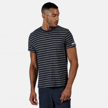 Men's Tariq Striped T-Shirt Navy White