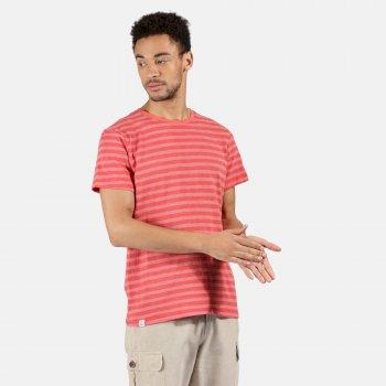 Men's Tariq Striped T-Shirt Spice Red White