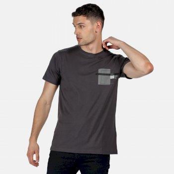 Men's Cline IV Graphic T-Shirt Seal Grey Marl