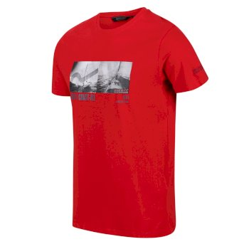Men's Cline IV Graphic T-Shirt True Red Coast Print