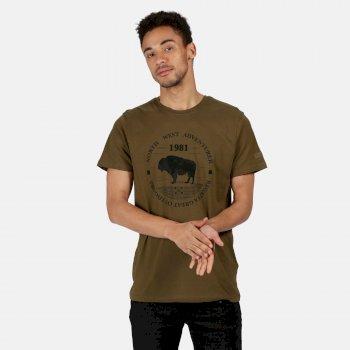 Men's Cline IV Graphic T-Shirt Camo Green Adventurer Print