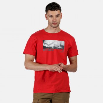 Men's Cline IV Graphic T-Shirt Delhi Red Coastal Print