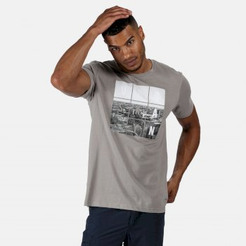 Men's Cline IV Graphic T-Shirt Rock Grey Urban Print