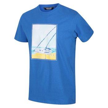 Men's Cline IV Graphic T-Shirt Nautical Blue Sail