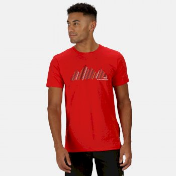 Men's Breezed Graphic T-Shirt Chinese Red