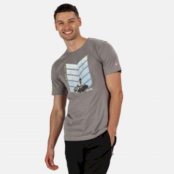 Men's Breezed Graphic T-Shirt Rock Grey