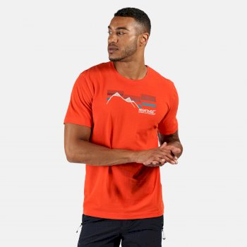 Men's Breezed Graphic T-Shirt Burnt Salmon