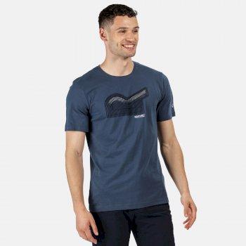 Men's Breezed Graphic T-Shirt Dark Denim