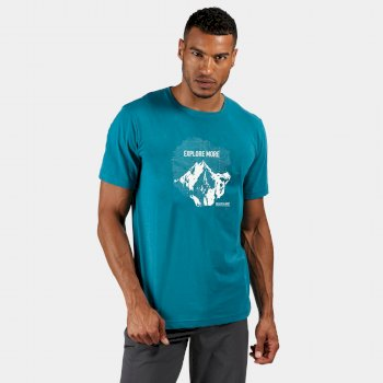 Men's Breezed Graphic T-Shirt Olympic Teal