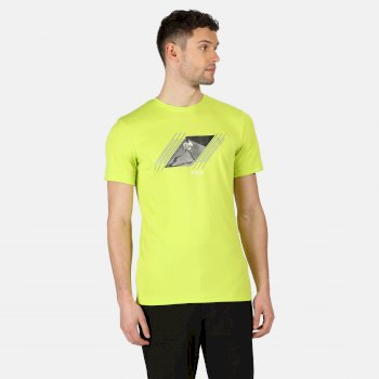 Men's Fingal V Graphic Active T-Shirt Electric Lime