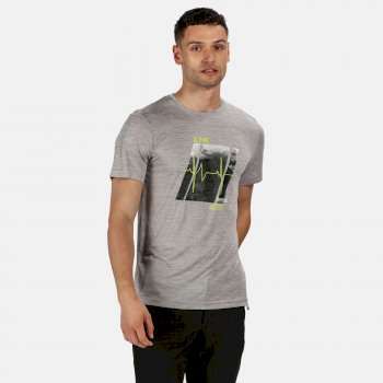 Men's Fingal V Graphic Active T-Shirt Rock Grey