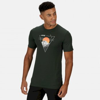 Men's Fingal V Graphic Active T-Shirt Deep Forest