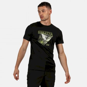 Men's Fingal V Graphic Active T-Shirt Black