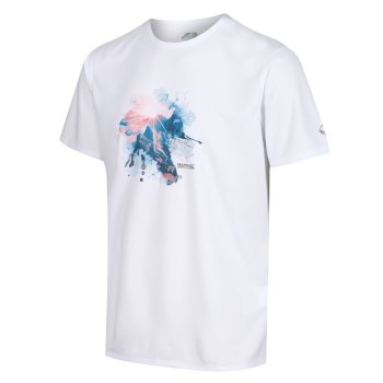 Men's Fingal V Graphic Active T-Shirt White