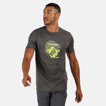 Men's Fingal V Graphic Active T-Shirt Magnet Grey