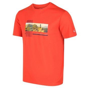Men's Fingal V Graphic Active T-Shirt Burnt Salmon