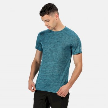 Men's Fingal V Graphic Active T-Shirt Olympic Teal Marl