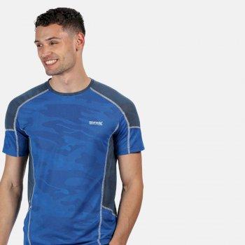 Men's Camito Active T-Shirt Nautical Blue Dark Denim